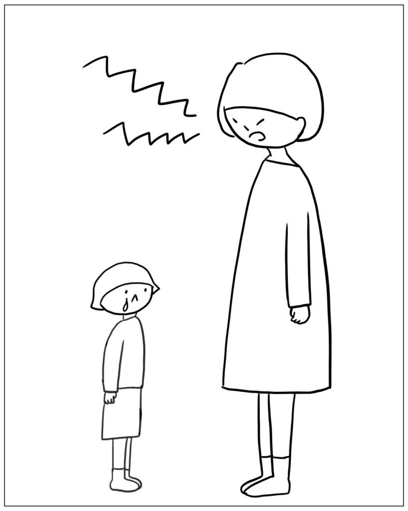 子どもに怒るあぴママ