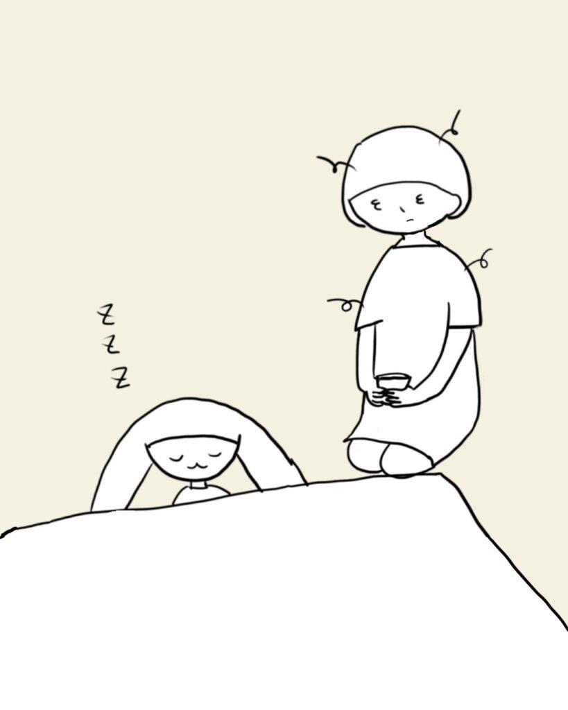 寝るあぴちゃん