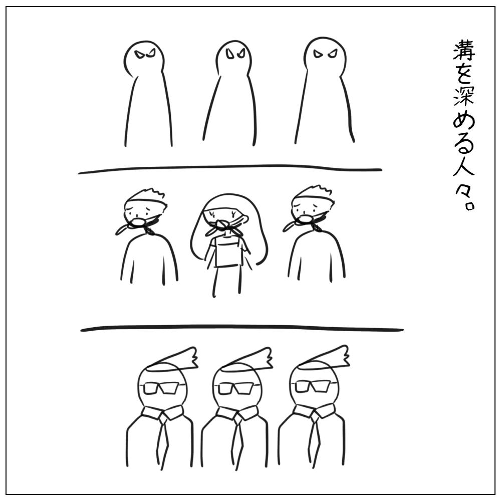 溝を深める人々
